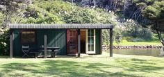Self-contained accommodation with amazing sea views and spa bath. Waiheke Island, Free Wifi, Cabin, Blog, Cabins, Cottage, Wooden Houses, Cubicle, Mitragyna Speciosa