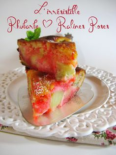 J'en reprendrai bien un bout...: L'Irrésistible Rhubarbe & Pralines Roses