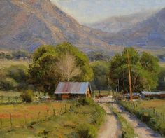 """https://www.facebook.com/MiaFeigelson """"Local charm"""" (2009) By Dan Young, from western Colorado, US - oil on canvas; 10 x 12 in - www.danyoungstudio.com"""