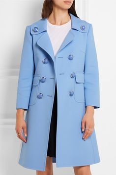 Michael Kors Collection | Double-breasted wool-blend gabardine coat…