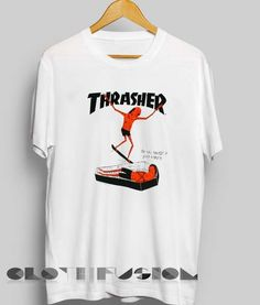 Unisex Premium Thrasher Logo Coffin T shirt Design Clothfusion