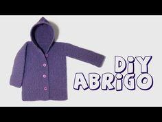 Cómo tejer abrigo o chaqueta de lana con capucha para bebé. - YouTube