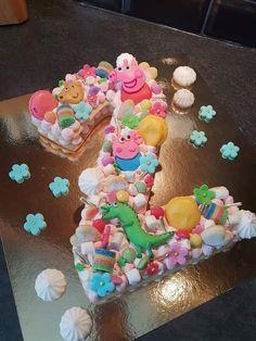 Firmbest - Just another WordPress site Number Birthday Cakes, Peppa Pig Birthday Cake, Number Cakes, Girl Birthday, Happy Birthday, Bolo Nacked, Alphabet Cake, Cake Lettering, Monogram Cake