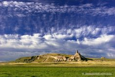 NEBRASKA ~ CHIMNEY ROCK the clouds above make for such a beautiful picture.