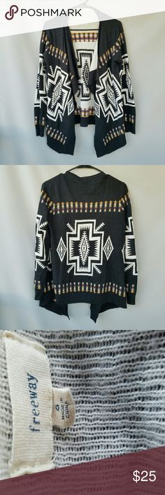 Buckle: Freeway Aztec Open Sweater Excellent condition  Feel free to ask me any additional questions! Bundles 3+ 15% off. Happy Poshing! No trades, or modeling. Buckle Sweaters