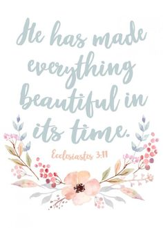 He has made everything beautiful in it's time – Ecclesiastes 3:11 | Seeds of Fatih