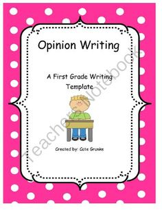 Opinion Writing from CGrunke on TeachersNotebook.com -  (6 pages)  - Opinion writing with prompts