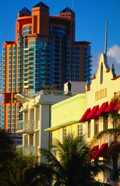 Along Ocean Drive, South Beach - Miami, Florida