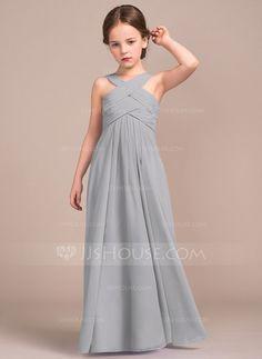 A-Line Princess V-neck Floor-Length Ruffle Zipper Up Regular Straps. Junior  Bridesmaid DressesBridesmaid ... e2a976eb4930