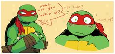 g0op:  Was wondering what Raph looked like with Mikey's freckles and I just.. ghdslh he's cute.   This needed to be done