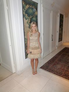 Vestido do estilista Sandro Barros no blog da brasileira Lala Rudge