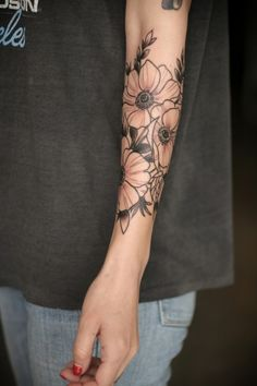 anemone tattoo - Google Search