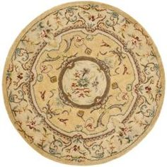 Handmade Light Gold/ Beige Hand-spun Wool Rug (6' Round) | Overstock™ Shopping - Great Deals on Safavieh Round/Oval/Square