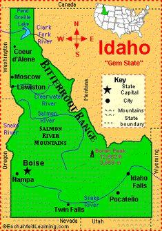 Idaho county map Maps Pinterest Idaho