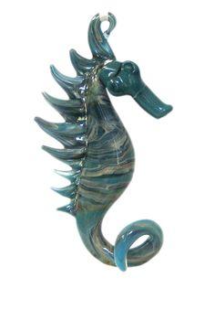 Seahorse Ornament, Boro Lampwork Glass Suncatcher