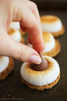 3-Ingredient S'mores Cookie Bites by The Comfort of Cooking ~ So easy!