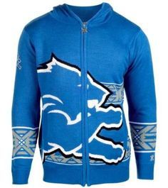 Men's Detroit Lions Big Logo Full-Zip Hoodie