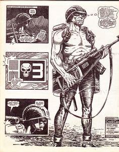 brett ewins rogue trooper | Rogue Trooper worries about the future.