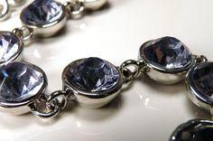 Shades of GreyBluePurple Wire Wrapped Glass Bead by ksyardbird, $16.00