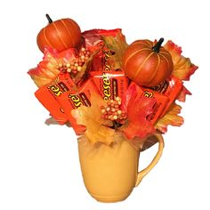 Shop for Pumpkin Patch Reese Candy Bouquet. Get free delivery On EVERYTHING* Overstock - Your Online Gift Baskets Shop! Candy Bouquet Diy, Diy Bouquet, Candy Boquets, Bouquets, Easter Gift For Adults, Easter Crafts For Kids, Fall Candy, Christmas Candy, Christmas Things
