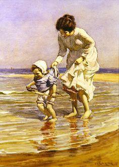 Paddling, 1915  William Kay Blacklock
