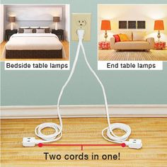 Two headed extension cord