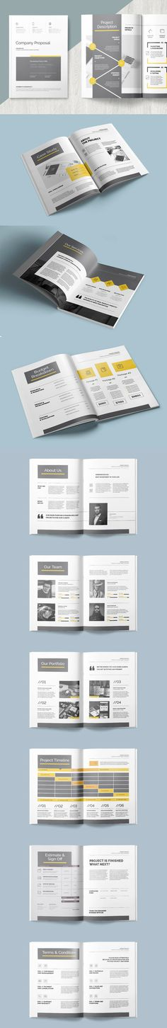 Clean & professional proposal template wich include Invoice, Letterhead, Brief, Trifold Brochure. Templates InDesign INDD