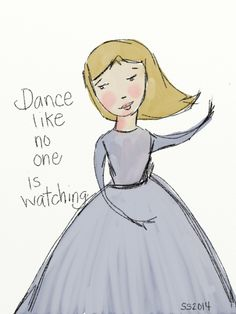 dance #artrage The Charming Place.com Art Wall Banner, Dance Like No One Is Watching, Whimsical Art, Bride Gifts, Customized Gifts, Wall Art, Disney Characters, Personalized Gifts, Personalised Gifts