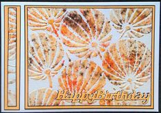 Claritystamp seed pods stencil with Brushos - by Lynne Lee