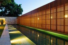 brise soleil, brise vue longue piscine extérieure