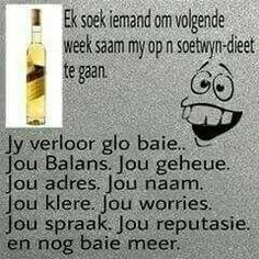 Wedding Jokes, Afrikaanse Quotes, Twisted Humor, Good Morning Quotes, 3 D, Funny, Cheers, Printing, Funny Parenting