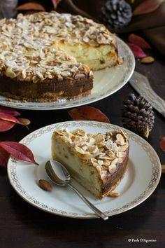 Almonds and ricotta cheesecake - Cheesecake mandorle e ricotta - Taste Abruzzo Cheesecake Cupcakes, Cheesecake Recipes, Cupcake Recipes, Cupcake Cakes, Ricotta Cheesecake, Boston Cream Pie, Sweet Pastries, Sandwiches, Italian Desserts