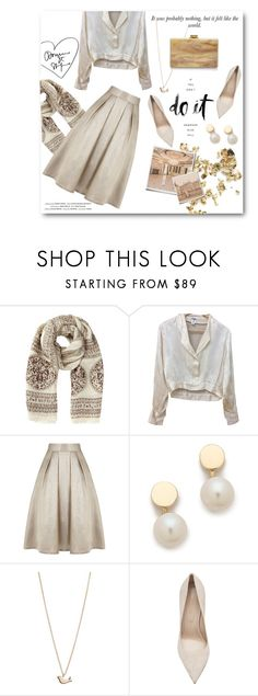 """[047] ""A girl should be two things: classy and fabulous."" ― Coco Chanel"" by dr-amat ❤ liked on Polyvore featuring Jigsaw, Chanel, Vision, Alpine, Coast, Ariel Gordon, Minor Obsessions, Sergio Rossi, Edie Parker and gold"