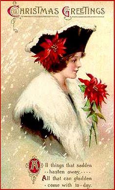 Christmas Greetings ~ ca, 1900 card