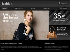 Moonfruit Template - Fashion #website #design | See more about fashion websites, website designs and templates.