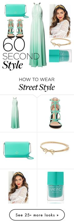 """Untitled #42"" by imandz on Polyvore featuring Matthew Williamson, Kate Spade, ALDO, Nails Inc., ombre and 60secondstyle"