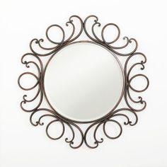 Wrought Iron Round Mirror / It makes me smile.