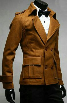 Interesting jacket, military inspiration with a XIX century collar