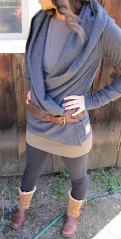 fleece yoga wrap....can be worn 5 different ways by MeandD on Etsy