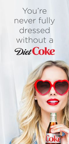 Lipstick. Sunglasses. Diet Coke. All of my favorite accessories to take on the day.