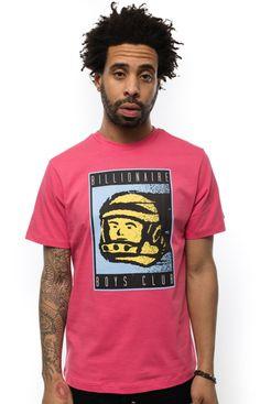 Billionaire Boys Club, Centre Court T-Shirt - Pink - T-Shirts - MOOSE Limited