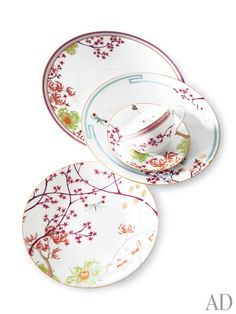The Eden line of dinnerware from the French porcelain firm Medard de Noblat.