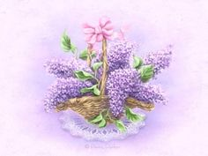 Lilac Flowers, Beautiful Flowers, Penny Parker, Decoupage, Illustration Blume, Sarah Kay, All Things Purple, Art Pictures, Creations