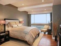 Accent wall color ideas top result neutral master bedroom paint colors awesome bedroom accent wall color ideas home delightful gallery accent wall color Small Bedroom Designs, Master Bedroom Design, Home Bedroom, Small Bedrooms, Bedroom Furniture, Dream Bedroom, Calm Bedroom, Dark Furniture, Bedroom Lamps