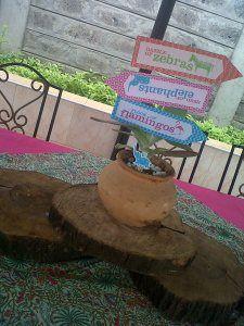 Zawadi's Safari Party - Table Centerpiece