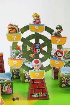 Roda Gigante 3D Super Mario Bros   Arte e Mimos em Papel   Elo7
