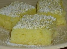 Two Ingredient Lemon Bars Recipe cake mix + 2 cans lemon pie filling + 25 mins = yum