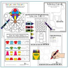 Coloring | Fine Motor Skills | Therapy Resources | Tools To Grow, Inc. www.toolstogrowot.com