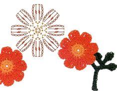No.9 Cosmos Crochet Flower Motifs / 코스모스 코바늘 플라워 모티브도안