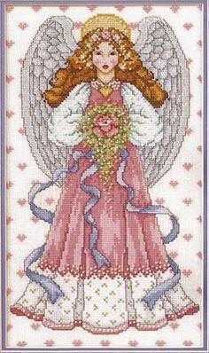 Punto de Cruz GRATIS: Angel del Amor
